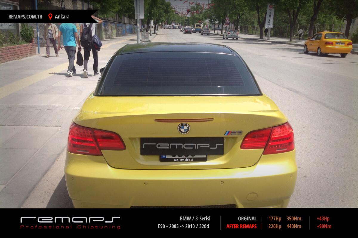BMW 3-Serisi E90 - 2005 -> 2010 320d Chip Tuning, Performans, Yakıt