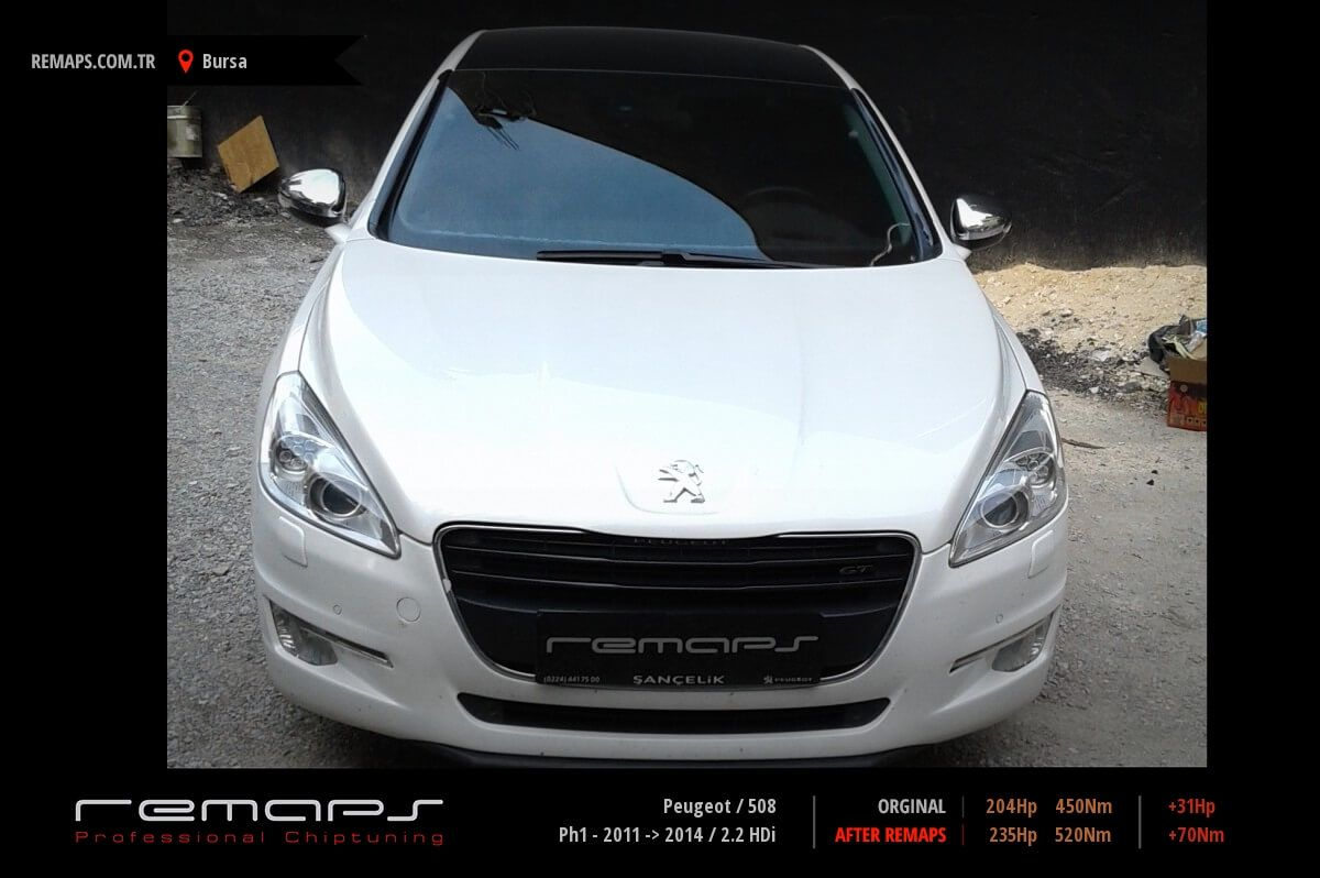 Peugeot 508 Bursa Chip Tuning