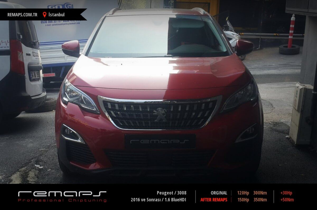 Peugeot 3008 İstanbul Chip Tuning
